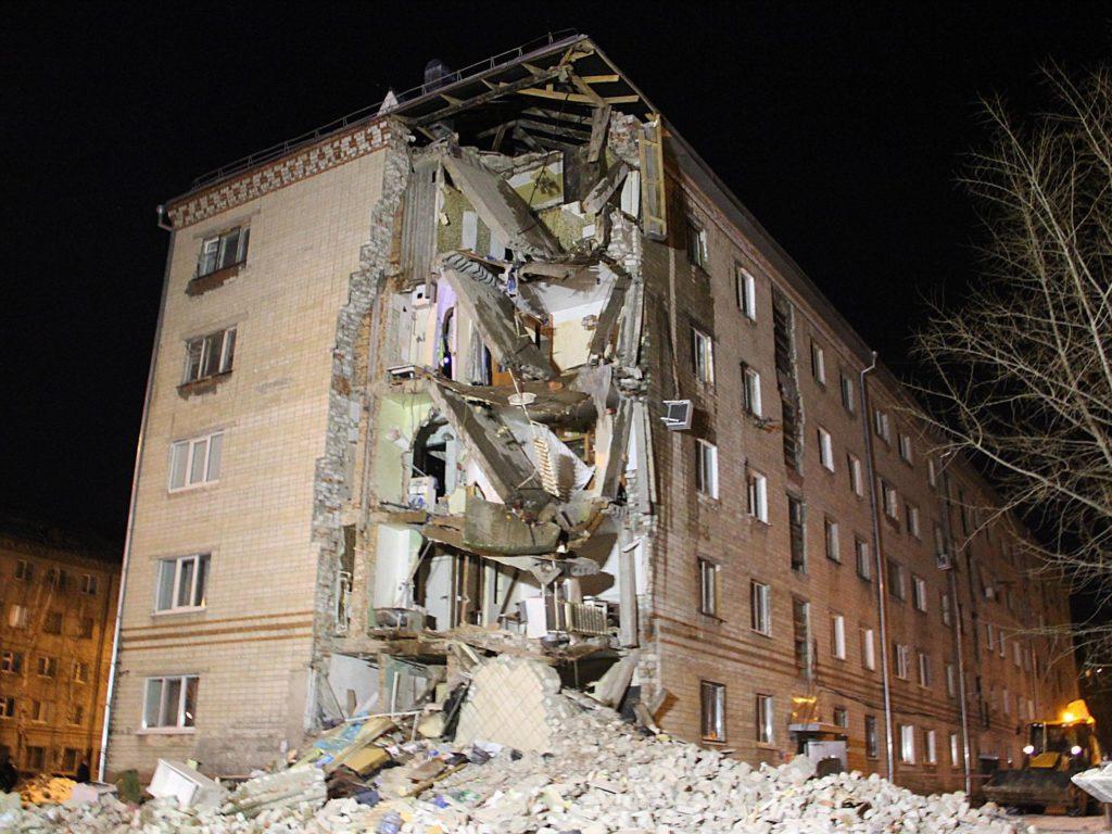 Обрушение жилого дома в Тюмени 24 марта 2015 г
