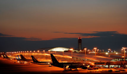 Строительство аэропорта Кенсаи на искусственном острове