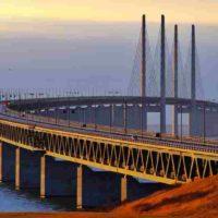 Эресуннский мост, соединяющий Данию и Швецию