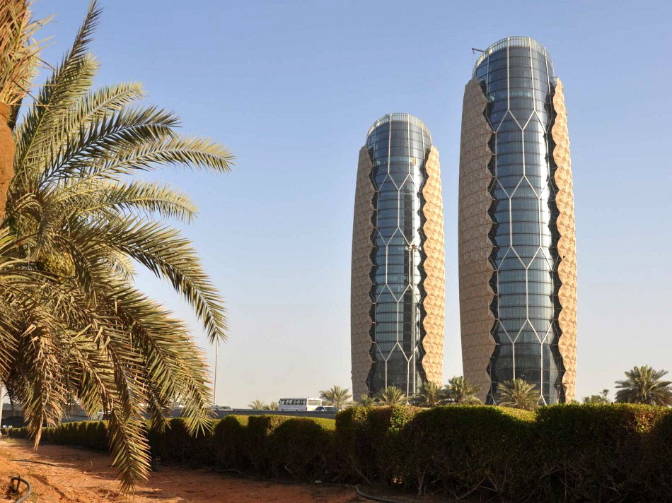 Внешний вид башен Аль-Бахар