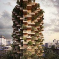 «Башня деревьев» из CLT конструкций в Торонто