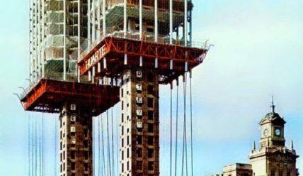 Башни Колумба в Мадриде, построенные методом подъема перекрытий