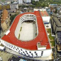 Спортивное ядро на кровле здания школы