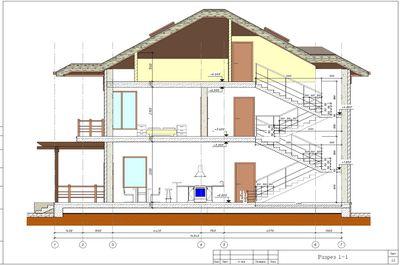 Проект двухэтажного дома с мансардой 303