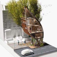 Street Tree Pods — дома на деревьях в Лондоне
