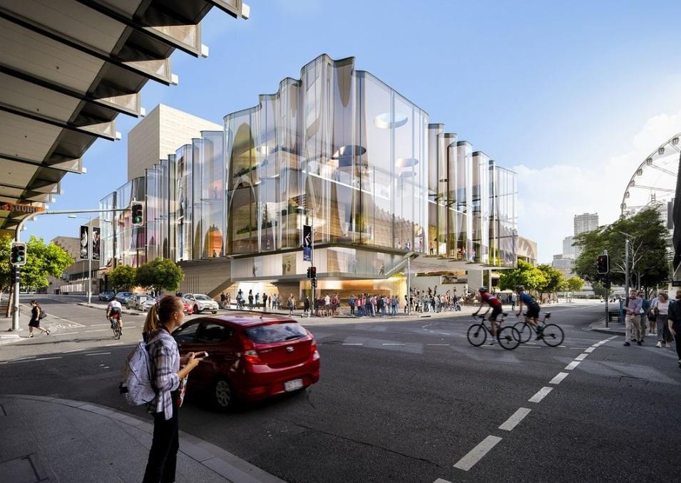 Здание театра в Брисбене по проекту Snøhetta