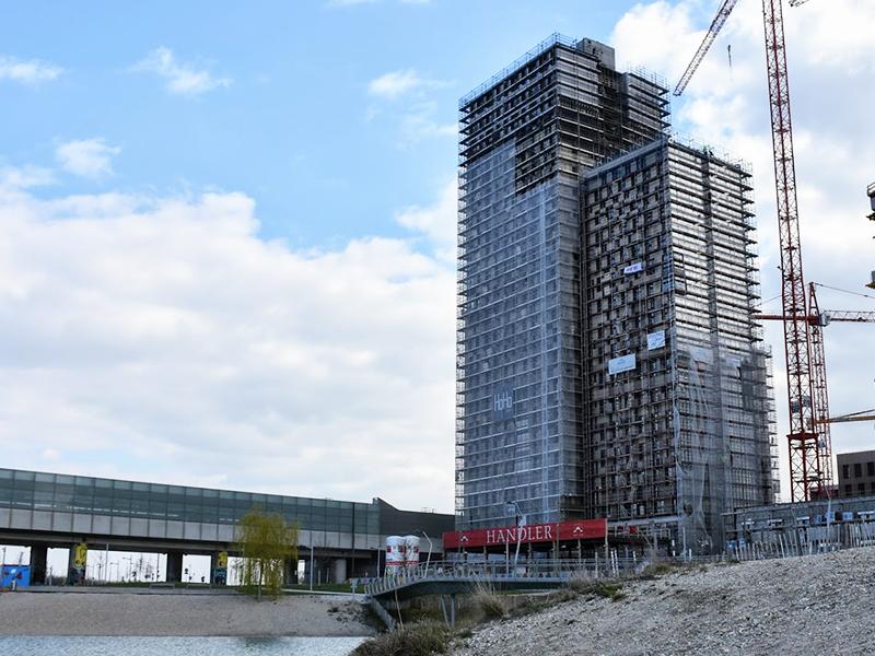Строительство одного из самых высоких гибридных деревянных зданий в мире