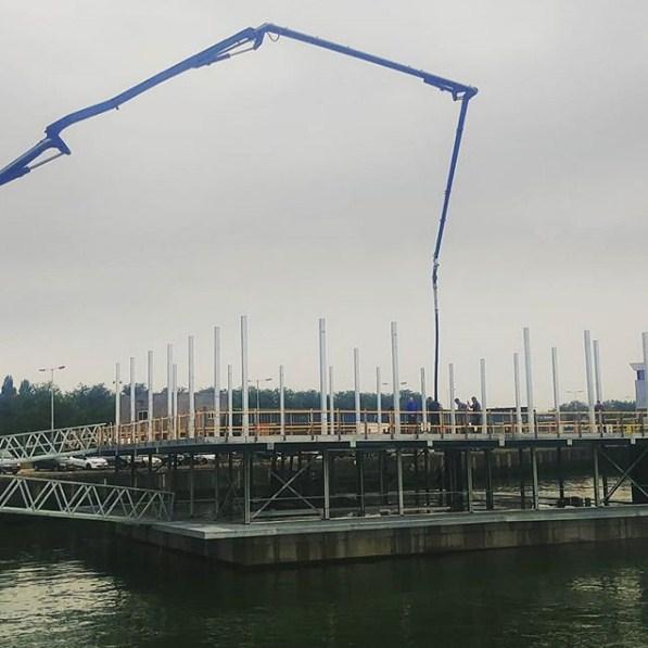 строительство плавучей фермы в роттердаме
