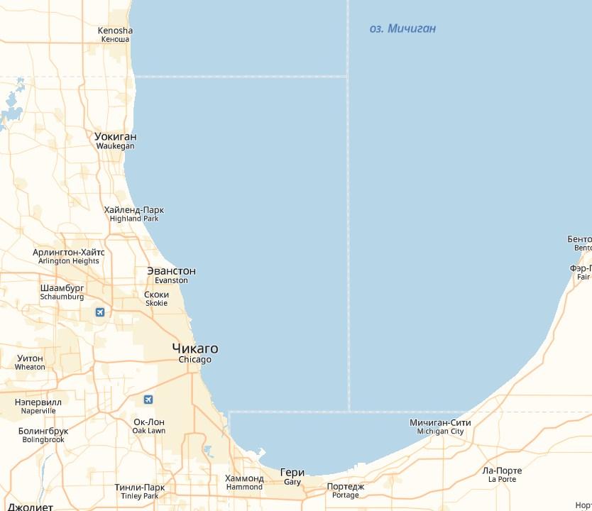 Расположение Чикаго