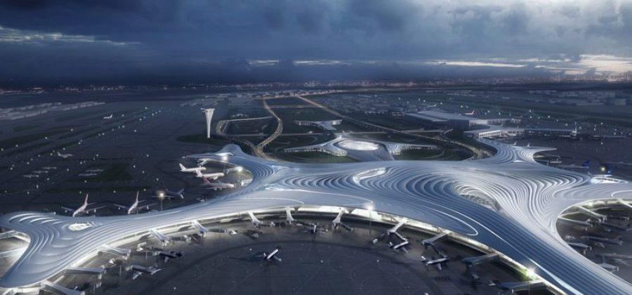 Новый футуристический аэровокзал в Харбине от MAD