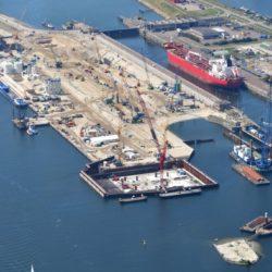 Строительство крупнейшего в мире морского шлюза