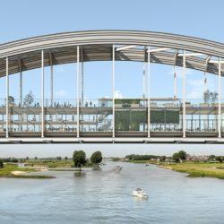 Реконструкция арочного моста под здание в Нидерландах