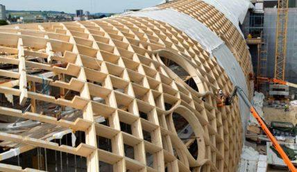 Офисное здание Swatch — необычная деревянная конструкция