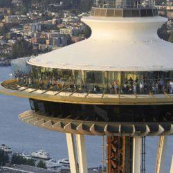 Реконструкция башни Space Needle в Сиэтле: очень много стекла