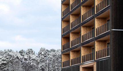 В Швеции строят жилые районы из дерева