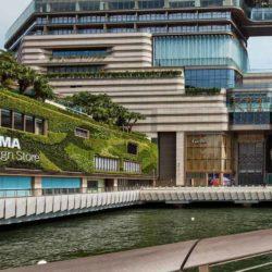 Зеленые стены K11 Musea в Гонконге