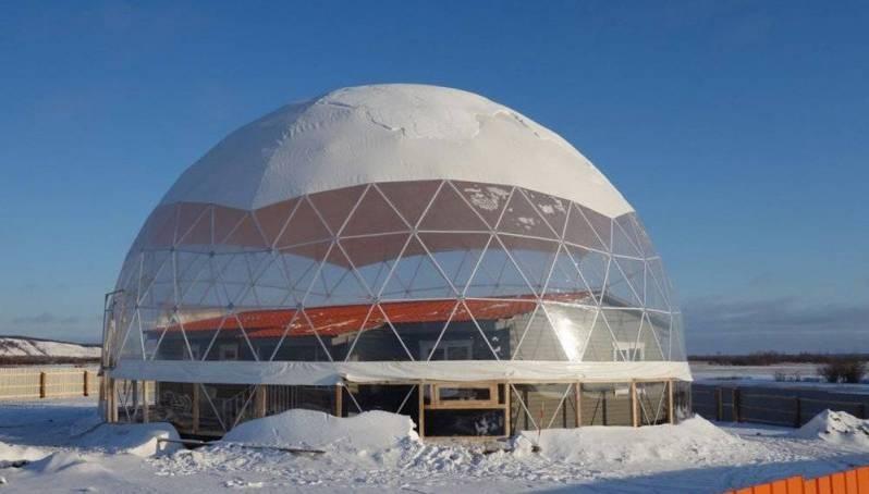 В Якутии завершается строительство экспериментального жилого дома под куполом