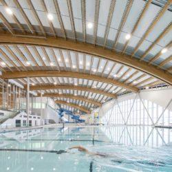 Оздоровительный комплекс с деревянной крышей в Калгари
