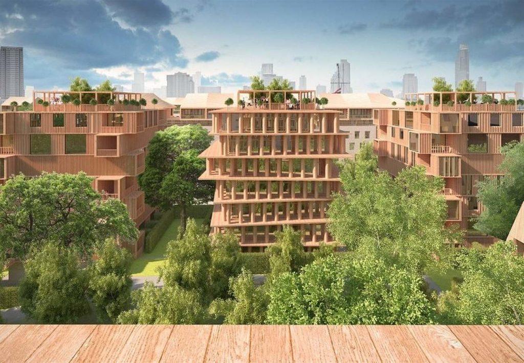 В России планируется построить первый деревянный квартал с многоэтажной застройкой