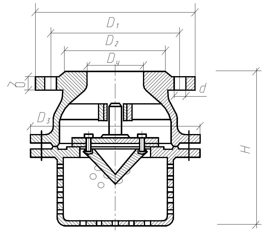3. Клапан обратный приемный фланцевый