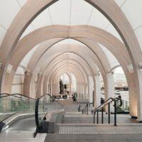 Переход с деревянными арками в Австралии
