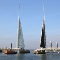 Мост Twin Sails Bridge в Великобритании