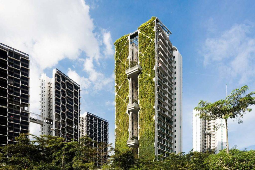 Tree House - здание с самым большим зеленым фасадом в мире