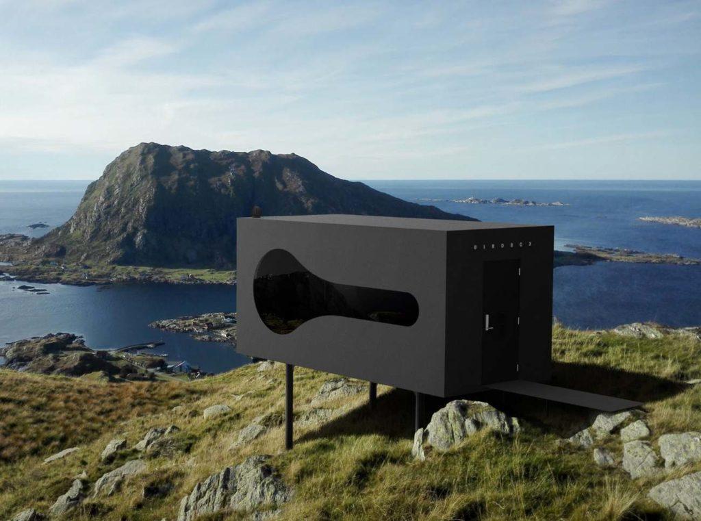 Здания Птичники в фьордах Норвегии