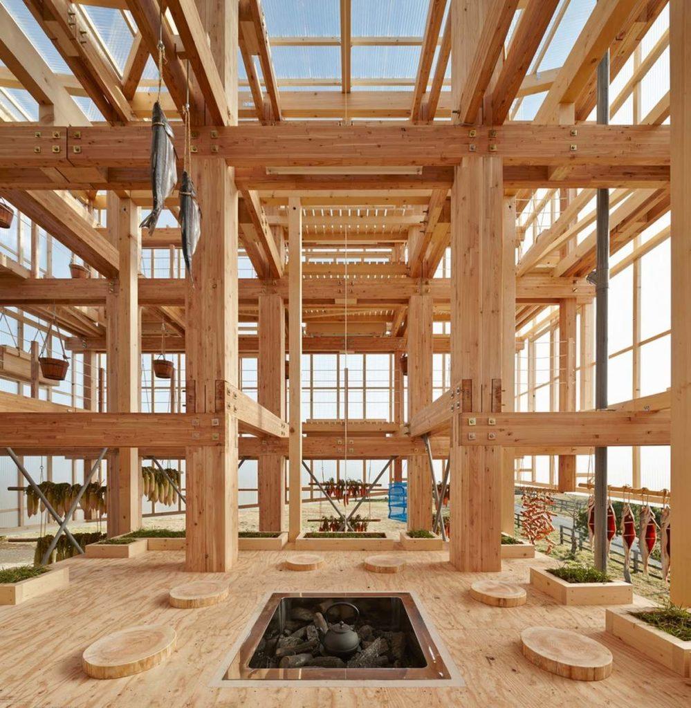 Nest We Grow Деревянная вертикальная ферма в Японии