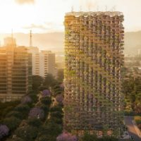 Деревянный модульный небоскреб на Филиппинах