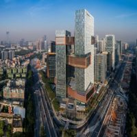Штаб-квартира Tencent с воздушными мостами в Шеньчжене