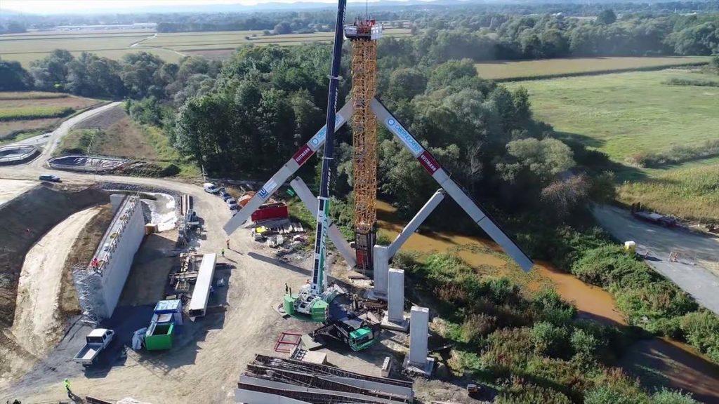 В Австрии продемонстрировали новый способ строительства моста