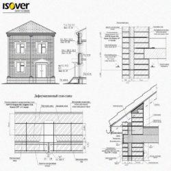 Технические решения Isover Saint-Gobain по устройству стен, полов, перекрытий, бассейнов в формате DWG и PDF