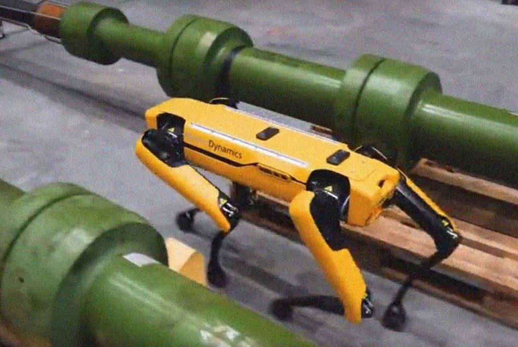 Собака-робот на стройке