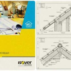 Технические решения Isover по устройству ограждающих конструкций мансарды в формате DWG и PDF
