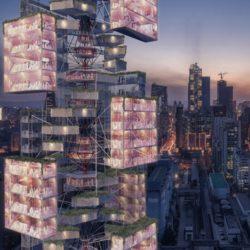 Лучшей концепцией 2020 года по версии журнала eVolo признан «антивирусный» небоскреб Epidemic Babel, разработанный проектировщиками из Китая