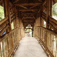 Арочный бамбуковый мост на Яве