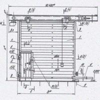 Подборка серий типовых конструкций, изделий и узлов для проектирования промышленных ворот