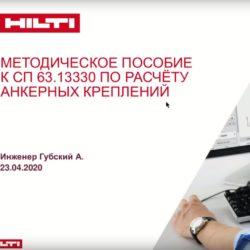 Методическое пособие к СП 63.13330 по расчету анкерных креплений. Вебинар компании Hilti