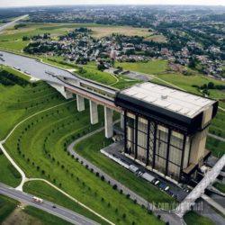 Стрепи-Тьё: вертикальный судоподъемник на Центральном Канале в Бельгии