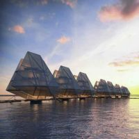 Плавучий электрический город близ Манилы