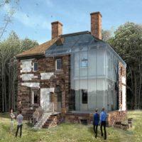 «Стеклянный дом» — реконструкция здания 1769 года постройки «в разрезе»