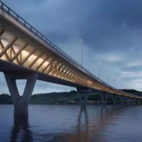 В Норвегии возводится 4-полосный автомобильный мост протяженностью 1,3 км с применением деревянных конструкций