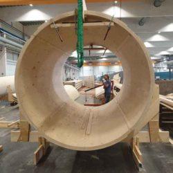 В Швеции возвели первый в мире деревянный промышленный «ветряк»