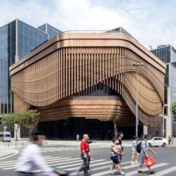 Динамический фасад здания художественного центра в Шанхае