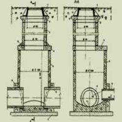 ТТК на устройство сборного железобетонного дождевого колодца для ливневой канализации