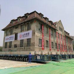 Перемещение здания монастыря массой 2600  тонн в Китае