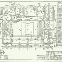 ТП 416-6-28.12.88. Пожарное депо на 4 автомобиля без жилых помещений (с железобетонным каркасом и панельными стенами)