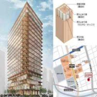 Очередное высотное здание из дерева появится в Японии
