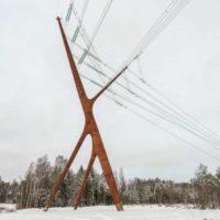 Bog Fox — «скульптурная» опора ЛЭП в эстонском заповеднике